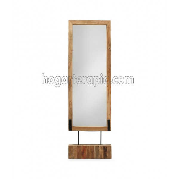 Decoraci n con espejos para tu hogar for Espejos de madera redondos